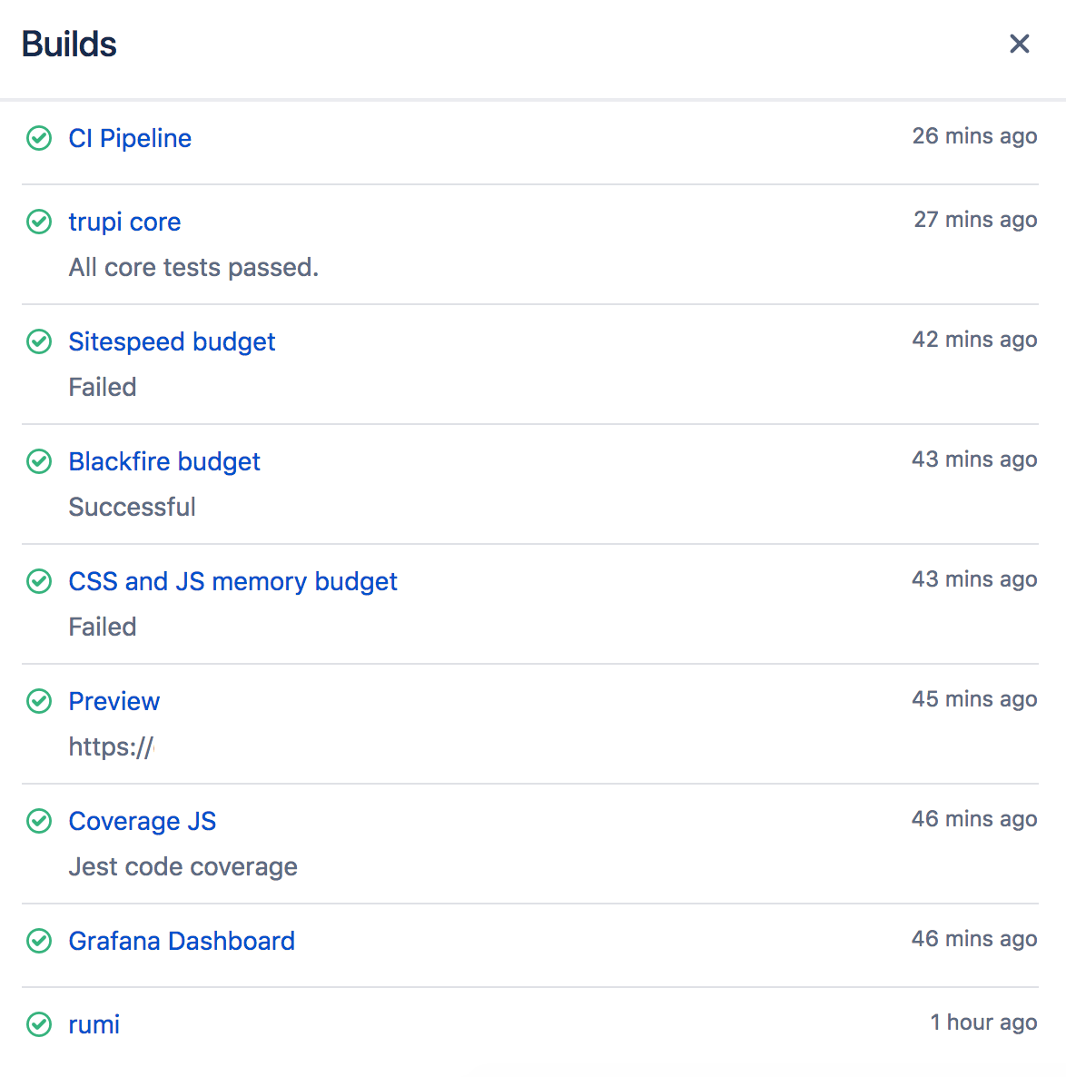 Build badges with success or failed messages in Bitbucket